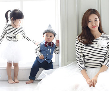 Gutdeyi衬衫+的日圆领/母亲和婴儿/ 15C08