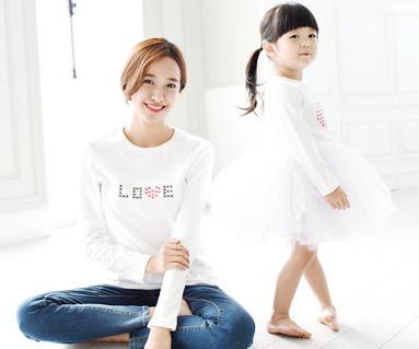 缝圆妈妈和婴儿长袖_15C06