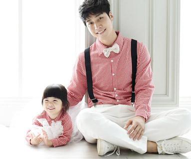 格子衬衫组合爸爸和宝宝长袖_15C11
