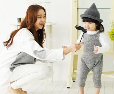 Wondeyi家庭+牛津衬衫/母亲和婴儿/ 14D02