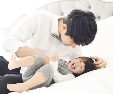一天家庭+牛津衬衫爸爸和宝宝长袖_14D02