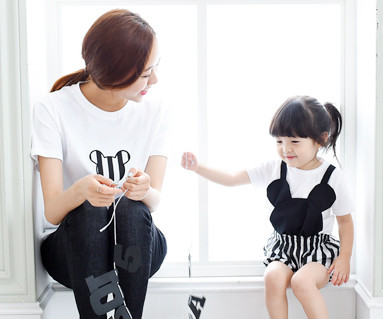 迷你家庭短袖体恤/母亲和婴儿/ 15B28