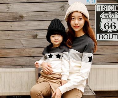 拉绒科科黑星运动衫长袖/母亲和婴儿/ 15D02