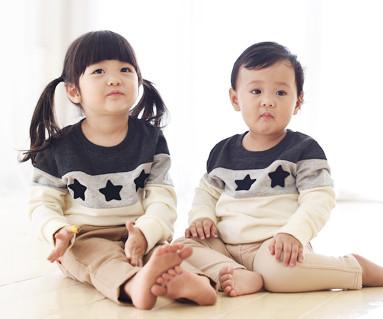 拉绒科科黑星运动衫长袖/婴儿/ 15D02