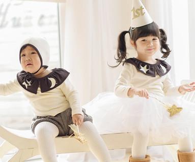 拉绒dalbyeol家庭长袖/婴儿/ 15D10