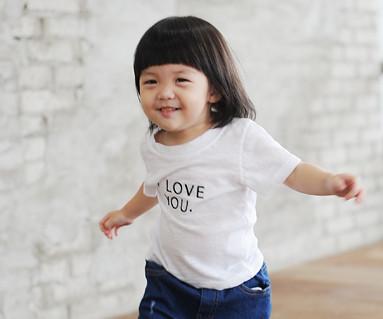 爱它绣圆领短袖体恤/婴儿/ 14B24