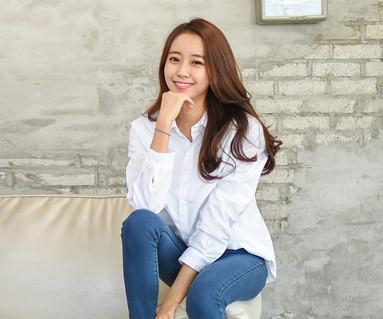 牛津衬衫白色女长袖_14C15