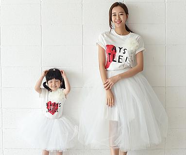 情侣心母亲和婴儿短袖身体_16B21