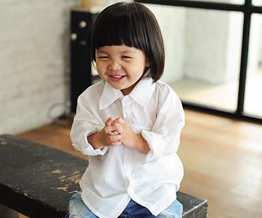 隐藏的口袋衬衫/婴儿/ 14B23