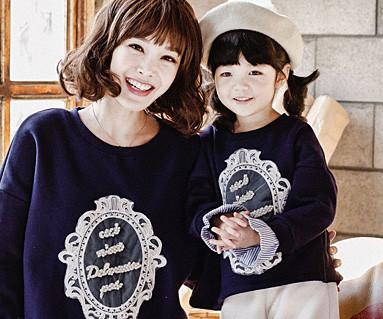 拉绒Royal Dandy妈妈和宝宝长袖_16D03