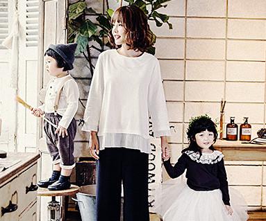 蝴蝶带装点家族 / 圆领衫_16C04