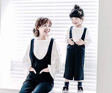 Bebe吊带裤妈妈和宝宝_16C07