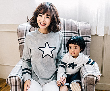 星线家庭长袖/母亲和婴儿/ 16C13