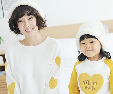 拉绒橄榄色运动衫长袖/母亲和婴儿/ 13D02