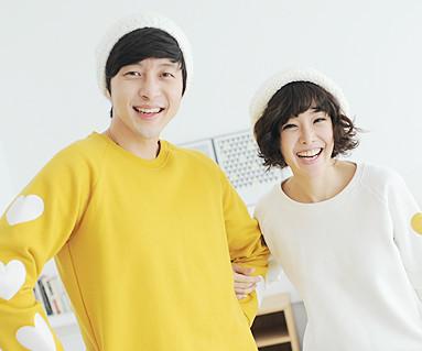 拉绒橄榄色运动衫情侣长袖_13D02