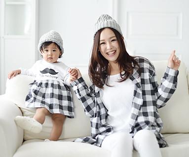 Modern Check母婴长袖_16A05