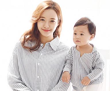 靛蓝南长袖/母亲和婴儿/ 15C05