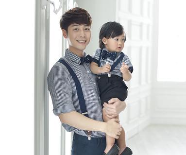 皇家花园爸爸和宝宝短袖体恤_16B06