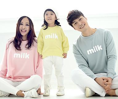 牛奶运动衫家庭长袖_16A09