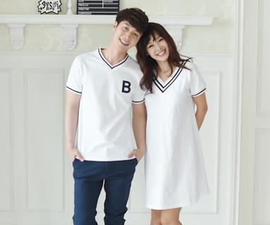 暑期学校情侣短袖体恤_16B11