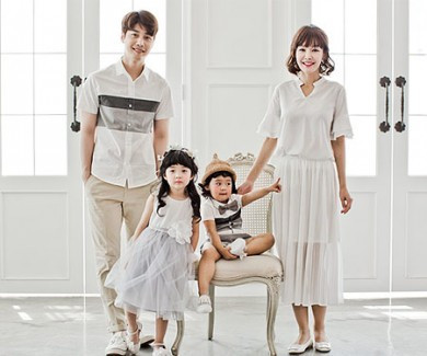 [家庭茶家庭的样子 - 轻度家庭短袖体恤_17B13