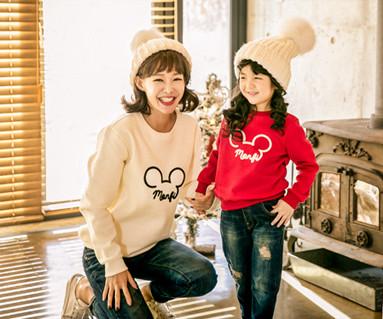 拉绒mongpi妈妈和宝宝鼠标长袖_17D07