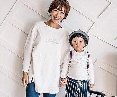 母亲和婴儿背带点长袖_16C08的爱