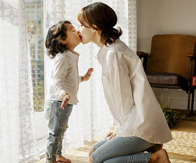 基本衬衫母亲和婴儿长袖_17A16A
