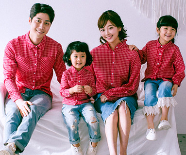 "<font color=""ffffff"">[家庭长袖T恤和家居外观] <br></font> Tommy Shirts Family长袖_18A02"