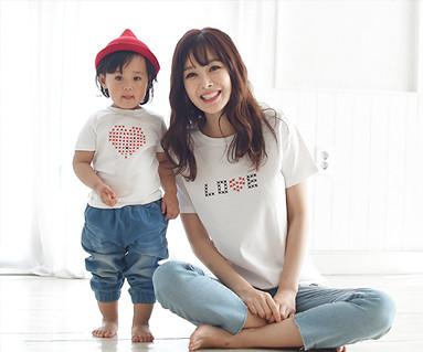 针圆妈妈和宝宝短袖身体_16B01WK