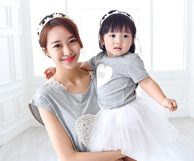 棉母亲和宝宝短袖身体_15B15WK