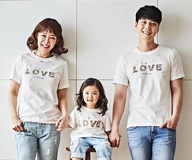 """<font color=""""ffffff"""">[家庭长袖T恤和家看起来] <br></font> Natural Love Home短袖身体_18B02"""