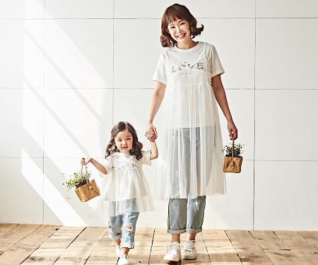 """<font color=""""ffffff"""">[家庭长袖T恤和家庭看起来] <br></font>丰满的母亲和婴儿的捆绑_18B08"""