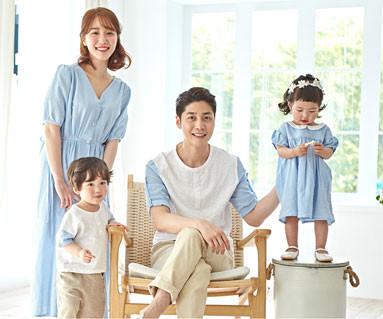 "<font color=""ffffff"">[家庭时尚和家庭外观] <br></font>家庭Day Blue B体恤19B09 /家家Look,Family Tee"