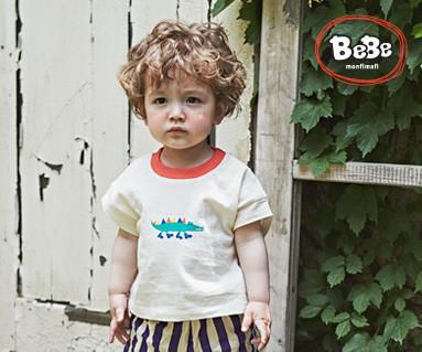 "<font color=""ffffff"">[家庭短袖T恤和家庭外观] <br></font>鳄鱼T恤19B17 /童装,童装,童装"