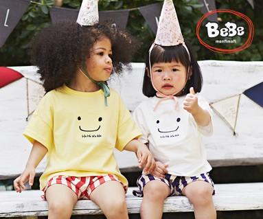 """<font color=""""ffffff"""">[家庭健康与家庭外观] <br></font> Hoho Haha短袖体童儿童19B06 /儿童복,童装,孩子的外观"""