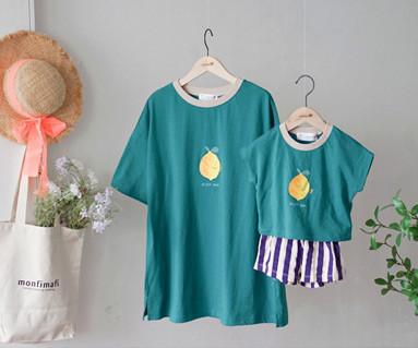 """<font color=""""ffffff"""">[家庭短袖T恤和家庭外观] <br></font>家庭Ime lemon T恤19B14 /童装,童装,童装"""