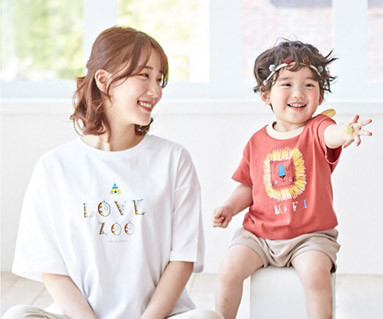 "<font color=""ffffff"">[家庭健康与家庭外观] <br></font>露营瑞恩的母亲和婴儿短袖体恤衫_19B01"