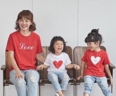 """<font color=""""ffffff"""">[家庭健康与家庭外观] <br></font> Coglove妈妈和宝宝短袖体恤衫_18B25"""