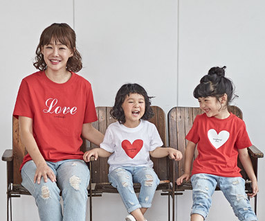 "<font color=""ffffff"">[家庭短袖T恤和家庭外观] <br></font>可乐爱妈妈和宝宝短袖身体_18B25"