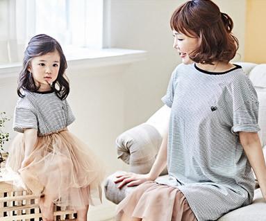 "<font color=""ffffff"">[家庭短袖T恤和家庭外观] <br></font>妈妈和宝宝短袖和服颜色__BB01"