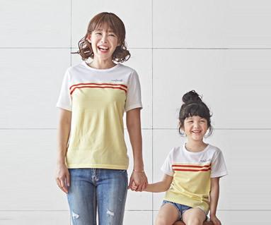"<font color=""ffffff"">[家庭短袖T恤和家庭外观] <br></font>糖果妈妈和宝宝短袖身体_18B24"