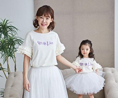 "<font color=""ffffff"">[家庭健康与家庭外观] <br></font> Lollipoli妈妈和宝宝短袖体恤衫_18B17"