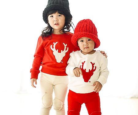 """拉拉鹿运动衫婴儿长袖_15D05 <font color=""""#FF6666""""><strong>[可以订购]</strong></font>"""