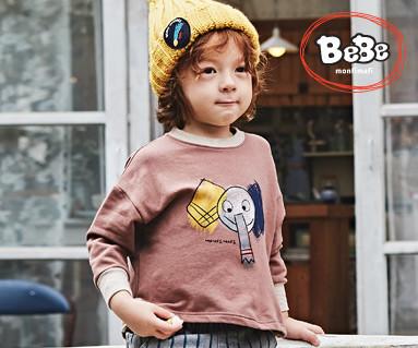 """<font color=""""ffffff"""">[家庭长袖T恤和家庭装] <br></font> Elephant运动衫19C05 /童装,童装,童装"""