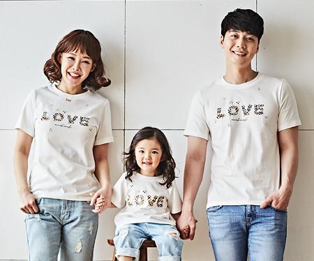 """<font color=""""ffffff"""">[全家福托盘和全家福] <br></font> Natural Love家庭短袖体恤衫_18B02"""