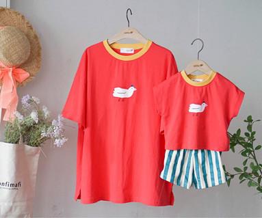 """<font color=""""ffffff"""">[家庭短袖T恤和家庭外观] <br></font>家庭飞越T恤19B16 /童装,童装,童装"""